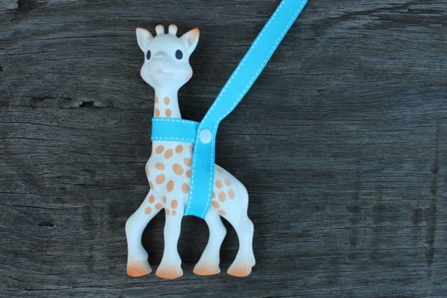 Toy Saver and Sophie Giraffe Harness -Bright Blue