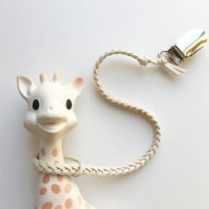 Natural Colour Faux Leather Braided Toy Saver