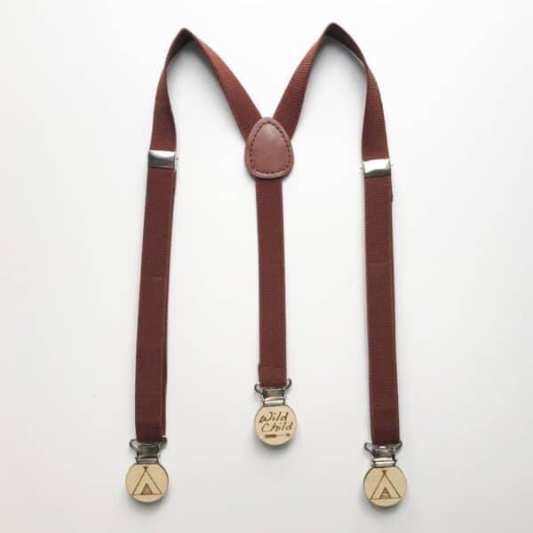 Light Brown elastic suspenders