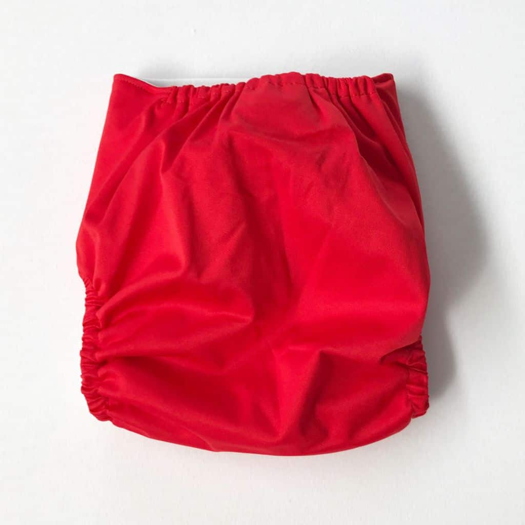 Red Modern Cloth nappy shell