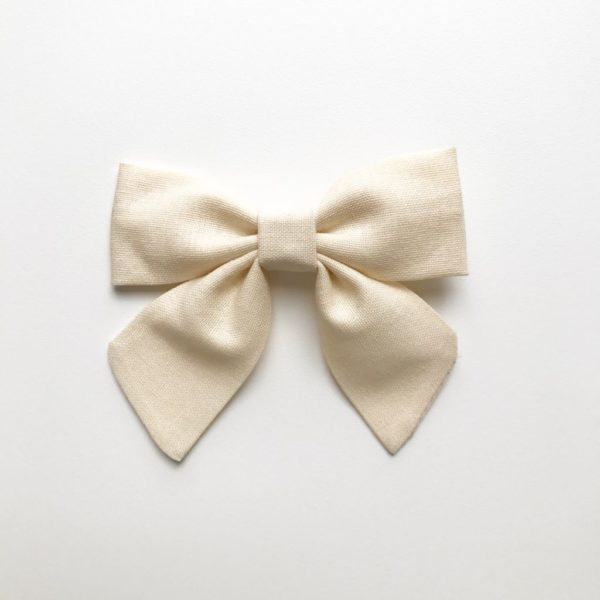 Tilly Bow - Ivory - available as a clip or headband