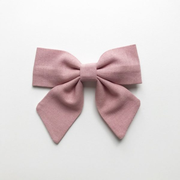 Tilly Bow - Dusky Pink - available as a clip or headband