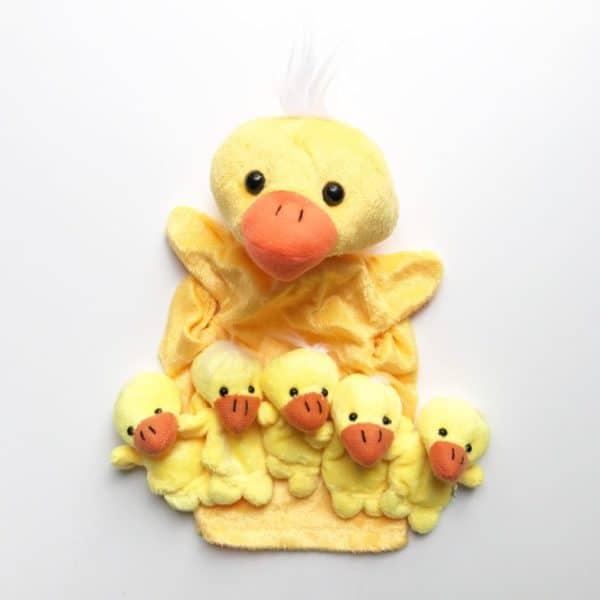 Puppets - Five Little Duck finger puppets and Mother duck hand puppet