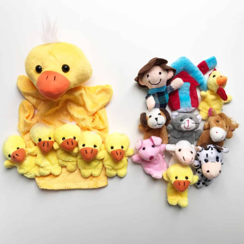 Old Mc Donald and Five Little Duck finger puppets
