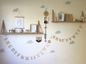 Personalised wooden aplphabet garland