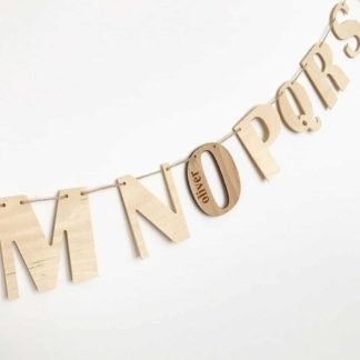 wooden Alphabet wall hanging