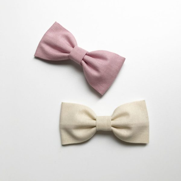 Dusky Pink and Ivory Darcy Bow