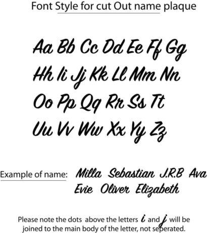 Script Font style
