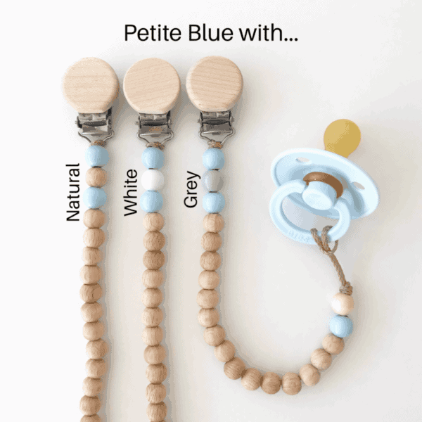 Petite beaded dummy clip- Shades of Blue