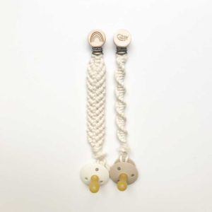 Macrame dummy chains- macrame dummy clips -mcarame pacifier clip