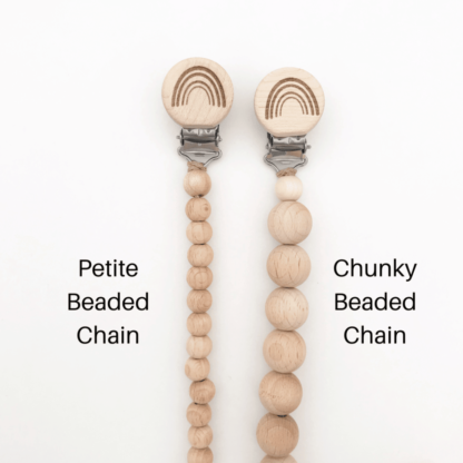 Comparison between petite and chunky beads