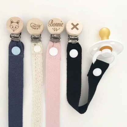 Wide Cotton Dummy Clip with BIBS Dummy