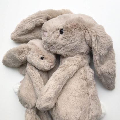 Small and Medium Beige Jellycat Bunny