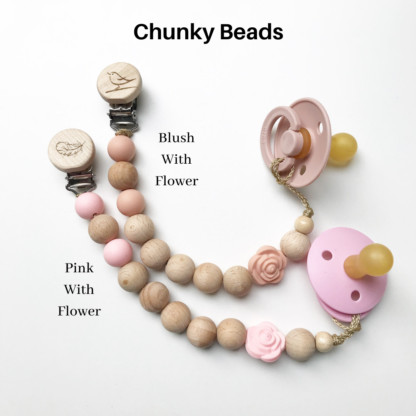 Chunky Dummy Clips with Flowers