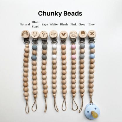 Chunky Bead Dummy Clip Colours