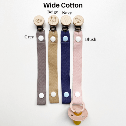 Wide Cotton Dummy Clip Colours