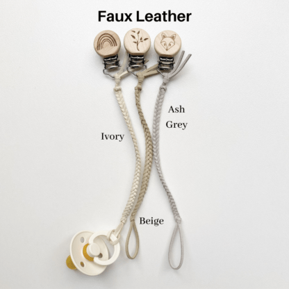 Faux Leather Dummy Clip Colours