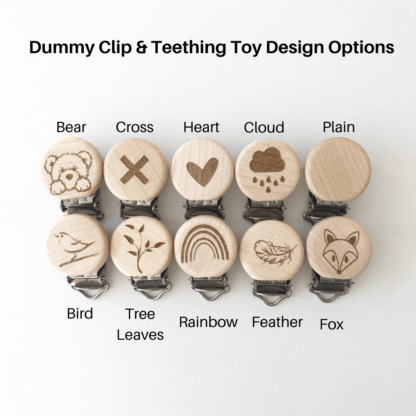 Dummy Clip and Teething Toy Design Options