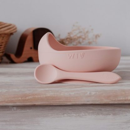 Blush Silicone suction bowl for starting solids
