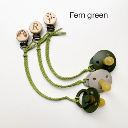 Faux Leather Dummy Clips Fern Green