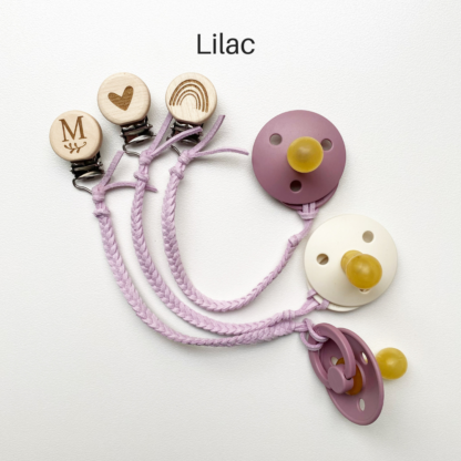 Faux Leather Dummy Clips Lilac