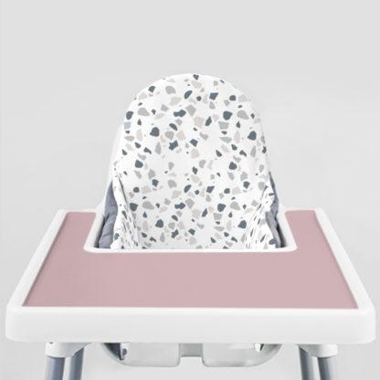 Blue Stone Terrazzo Ikea Highchair cushion cove-Modern Mauve Placemat