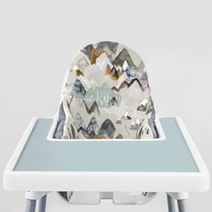 Call of the Mountains Ikea Highchair cushion cove-Vintage Blue Placemat