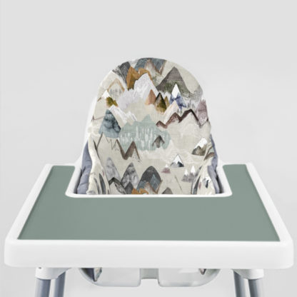 Call of the Mountains Ikea Highchair cushion cove-Faded Jade