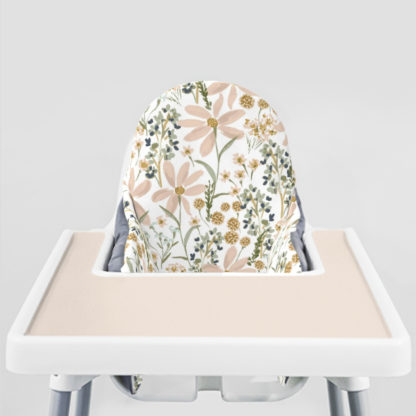 Daisy Dreams Ikea Highchair cushion cove-Blushing Beige Placemat