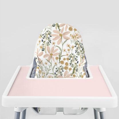 Daisy Dreams Ikea Highchair cushion cove-Peachy Pink