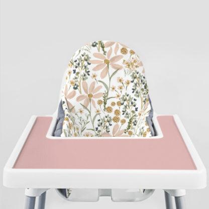 Daisy Dreams Ikea Highchair cushion cove-Dusty Rose Placemat