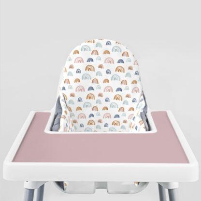 Earthtone Rainbows Ikea Highchair cushion cove- Modern Mauve Placemat