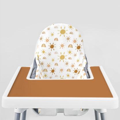 Mr. Golden Sun Ikea Highchair cushion cove-Boho Brown