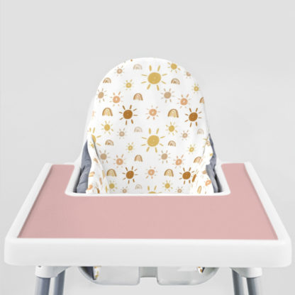 Mr. Golden Sun Ikea Highchair cushion cove-Dusty Rose Placemat