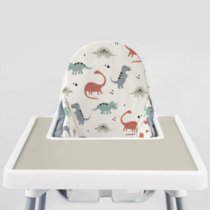 Muted Dinos Ikea Highchair cushion cove-Coastal Greige Placemat