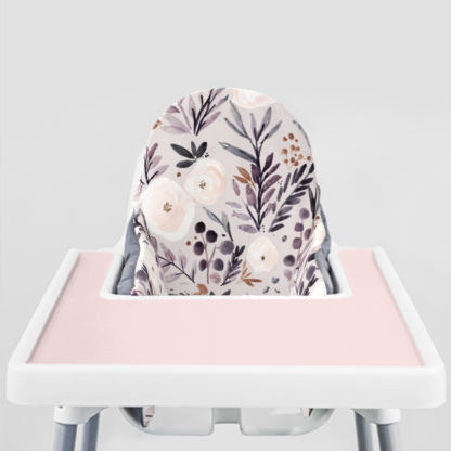 Rose and Autumn Twilight Ikea Highchair cushion cove-Peachy Pink Placemat