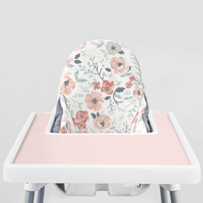 Soft Meadow Ikea Highchair cushion cove-Peachy Pink Placemat