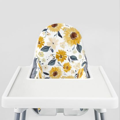 Sunflowers and Cream Ikea Highchair cushion cove-Coconut Placemat