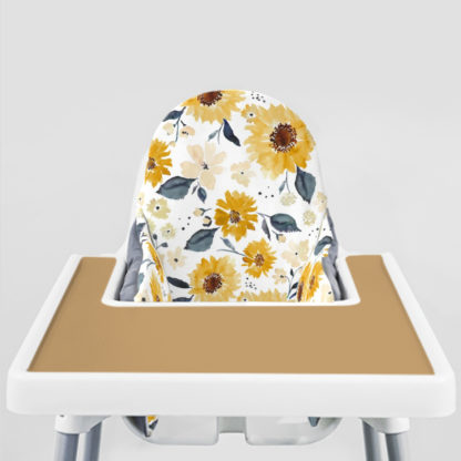 Sunflowers and Cream Ikea Highchair cushion cove-Golden Doe Placemat