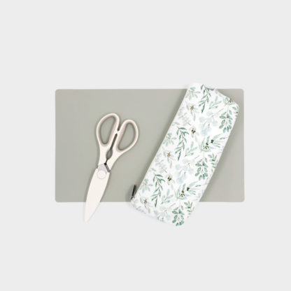 Restaurant Travel Bag - Eucalyptus with Desert Sage Silicone Placemat
