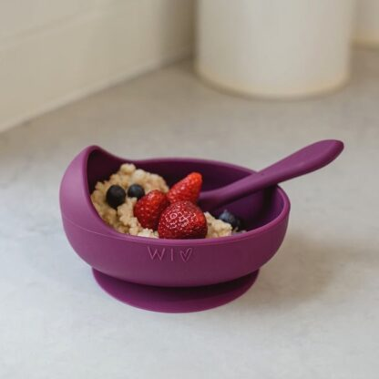 Plum Silicone suction bowl for starting solids