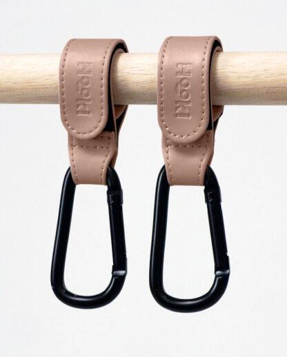 Mauve-Pram Clips and Hooks