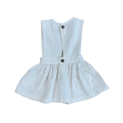 Indie Linen Dress-Snow