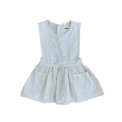 Linen dress-snow front