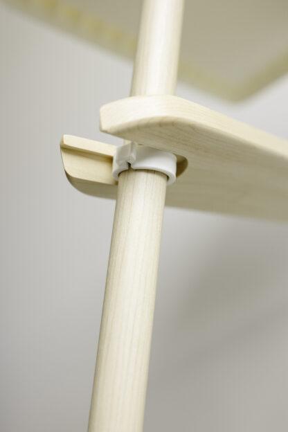 Hidden Support clamp under IKEA foot rest